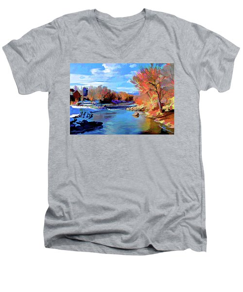 Arkansas River In Salida Co Men's V-Neck T-Shirt