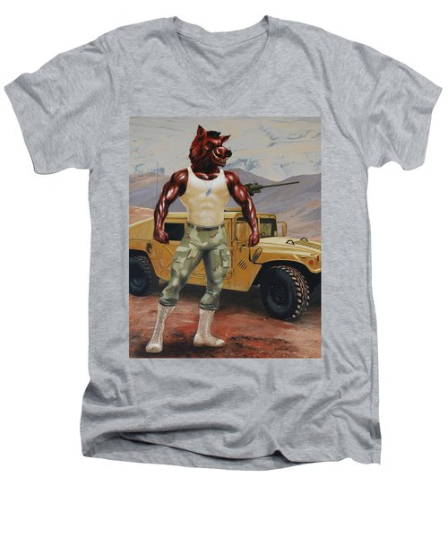 Arkansas Soldier Men's V-Neck T-Shirt