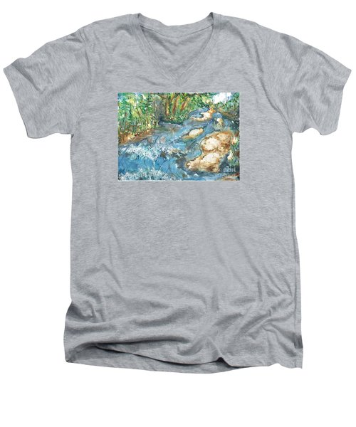 Arkansas Stream Men's V-Neck T-Shirt