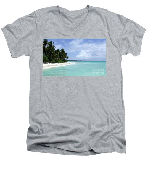 Men's V-Neck T-Shirt featuring the photograph Arno Island by Andrea Anderegg