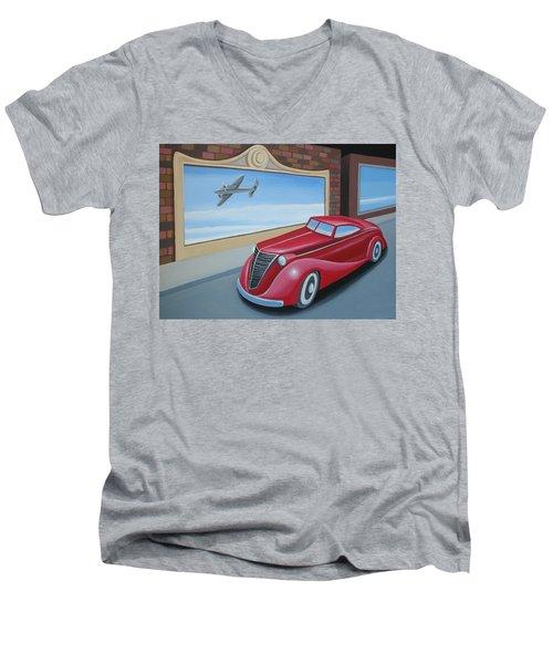 Art Deco Coupe Men's V-Neck T-Shirt by Stuart Swartz