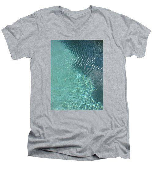 Art Homage David Hockney Swimming Pool Arizona City Arizona 2005 Men's V-Neck T-Shirt by David Lee Guss