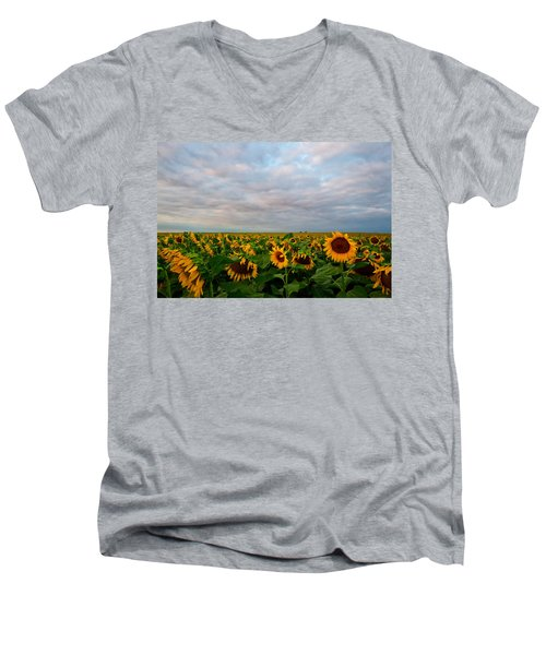 Men's V-Neck T-Shirt featuring the photograph As Far As The Eye Can See by Ronda Kimbrow