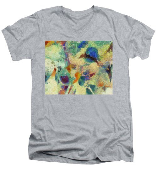 Men's V-Neck T-Shirt featuring the painting As Our Eyes Met by Joe Misrasi