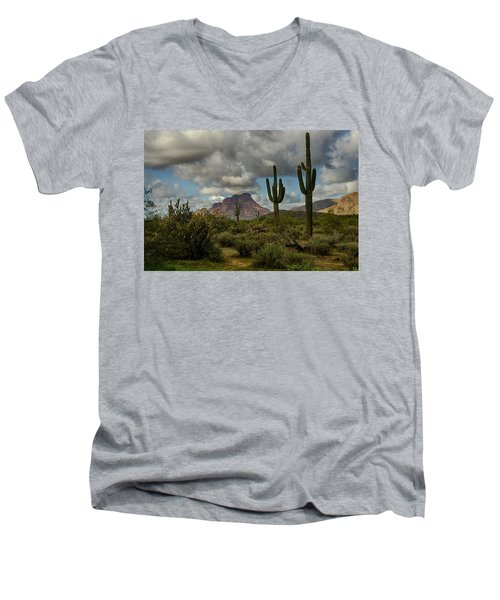 As The Clouds Pass By  Men's V-Neck T-Shirt