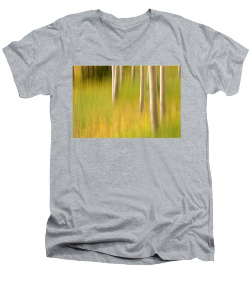 Aspen Abstract Men's V-Neck T-Shirt by Ronda Kimbrow