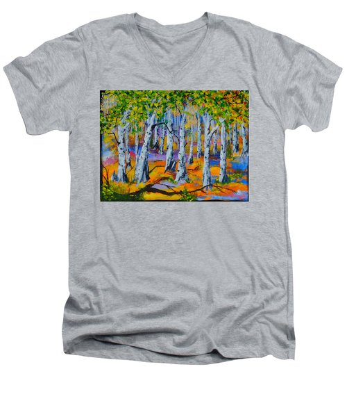 Aspen Friends In Walkerville Men's V-Neck T-Shirt