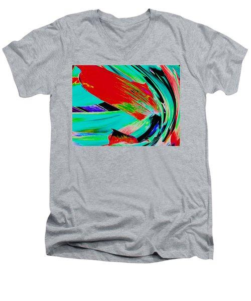 Aspidistra Twista Men's V-Neck T-Shirt by Stephanie Grant