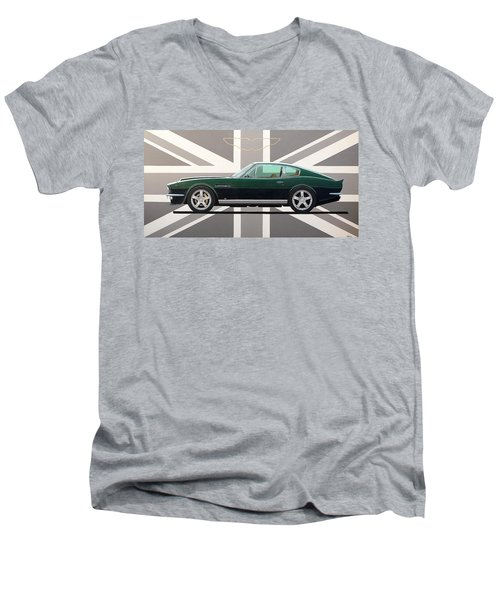 Aston Martin V8 Vantage Men's V-Neck T-Shirt