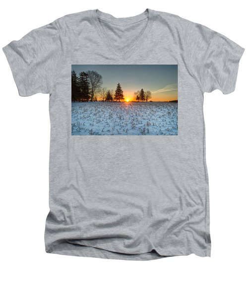 At First Light Men's V-Neck T-Shirt