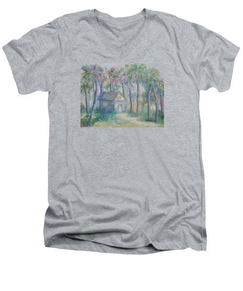 At Home In Marineland Fl Men's V-Neck T-Shirt