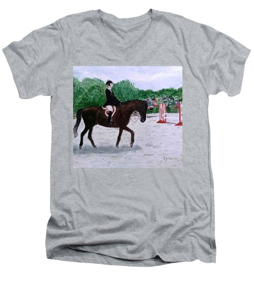 At The June Fete Men's V-Neck T-Shirt by Vickie G Buccini