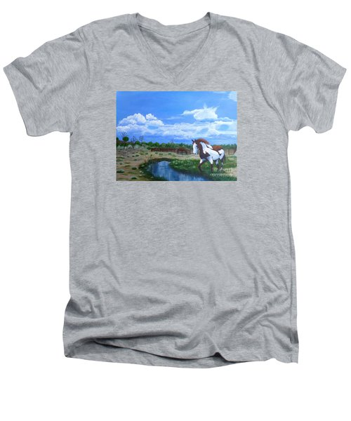 At The Ranch Men's V-Neck T-Shirt