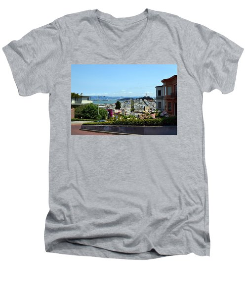 At The Top - Lombard Street Men's V-Neck T-Shirt