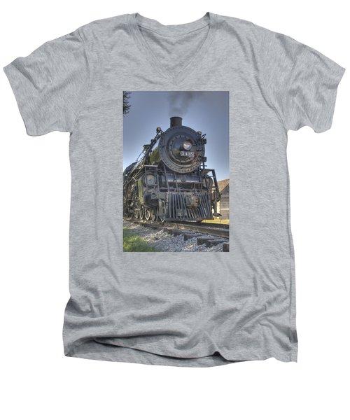 Atsf 3415 Head On Men's V-Neck T-Shirt