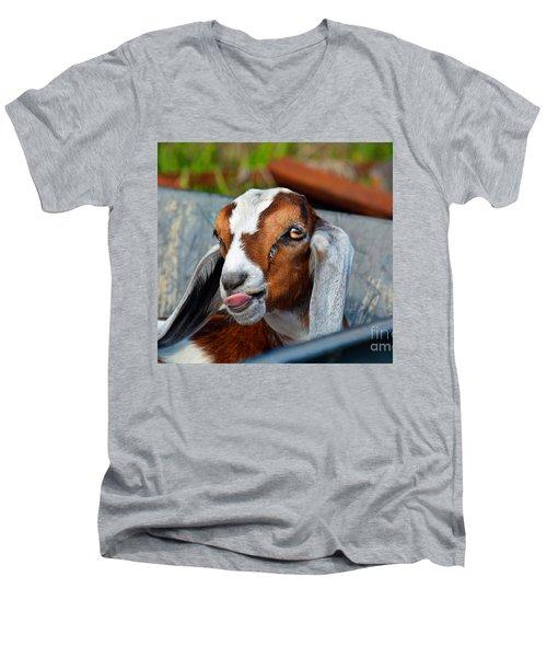 Attitude Is Everything Men's V-Neck T-Shirt by Savannah Gibbs