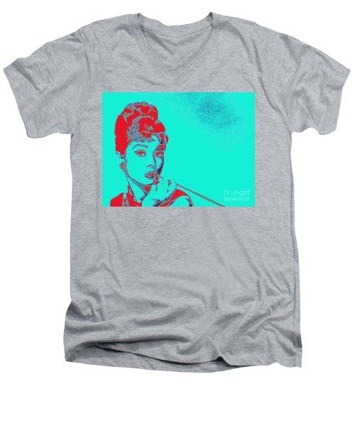 Audrey Hepburn 20130330v2p128 Men's V-Neck T-Shirt