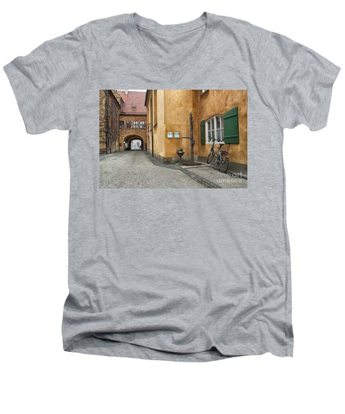 Men's V-Neck T-Shirt featuring the photograph Augsburg Germany by Paul Fearn
