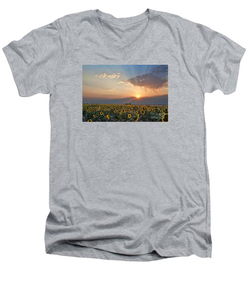 August Dreams Men's V-Neck T-Shirt by Jim Garrison