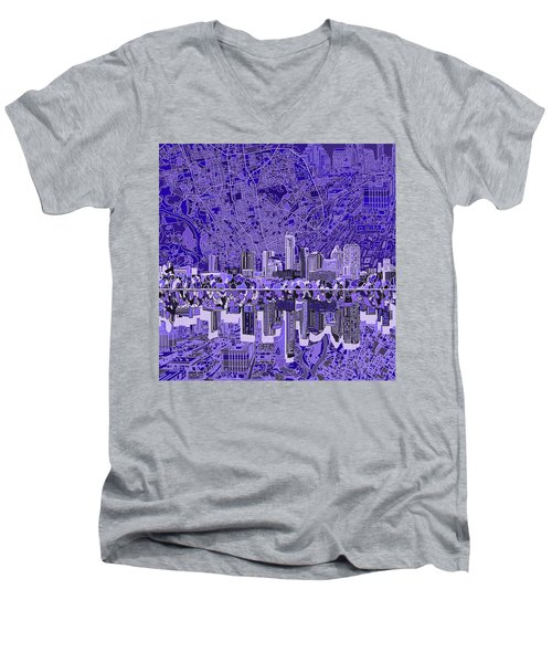 Austin Texas Skyline 4 Men's V-Neck T-Shirt by Bekim Art
