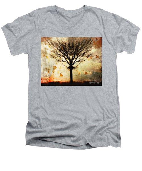 Autum Wind Men's V-Neck T-Shirt