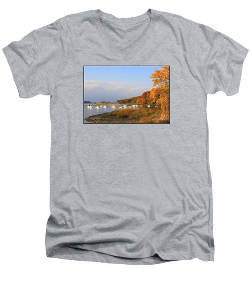 Autumn At Cold Spring Harbor Men's V-Neck T-Shirt