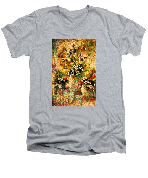 Autumn Bounty - Abstract Expressionism Men's V-Neck T-Shirt