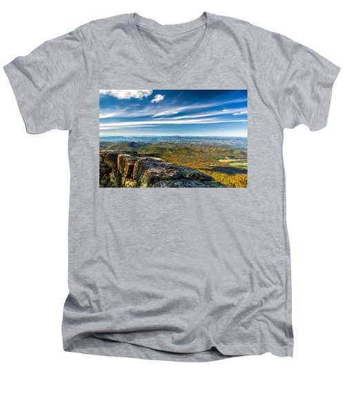 Autumn Colors In The Blue Ridge Mountains Men's V-Neck T-Shirt