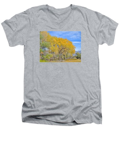 Men's V-Neck T-Shirt featuring the photograph Autumn Colors by Marilyn Diaz