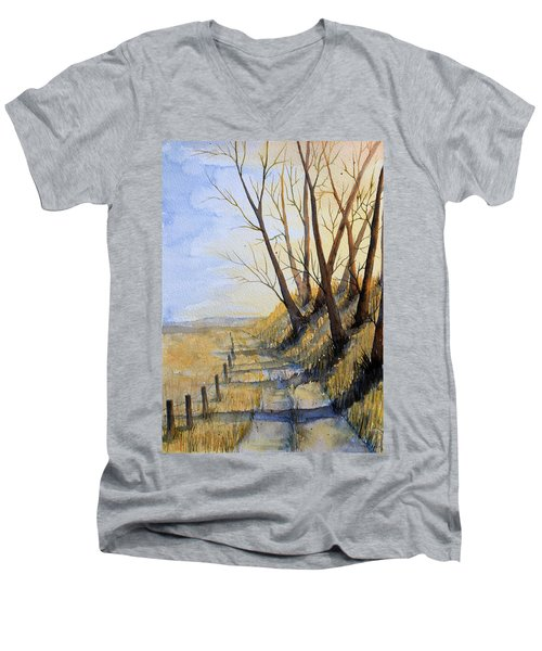 Autumn Country Road Men's V-Neck T-Shirt