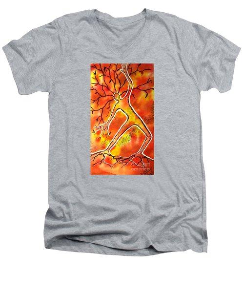 Autumn Dancing Men's V-Neck T-Shirt