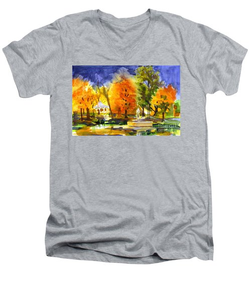 Autumn Gold 2 Men's V-Neck T-Shirt