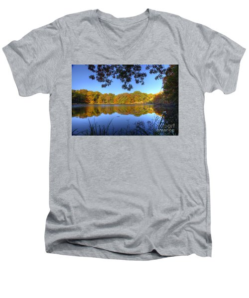 Autumn In Heaven Men's V-Neck T-Shirt