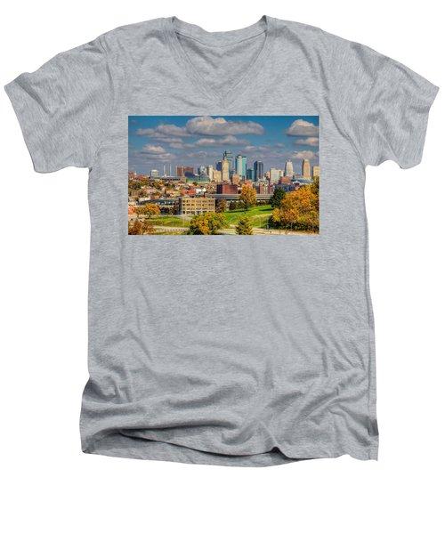 Autumn In Kansas City Men's V-Neck T-Shirt
