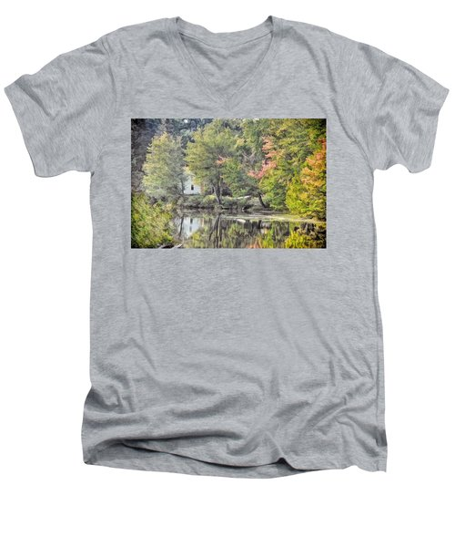 Autumn In Pastel Men's V-Neck T-Shirt