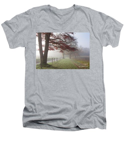 Autumn In The Cove IIi Men's V-Neck T-Shirt by Douglas Stucky