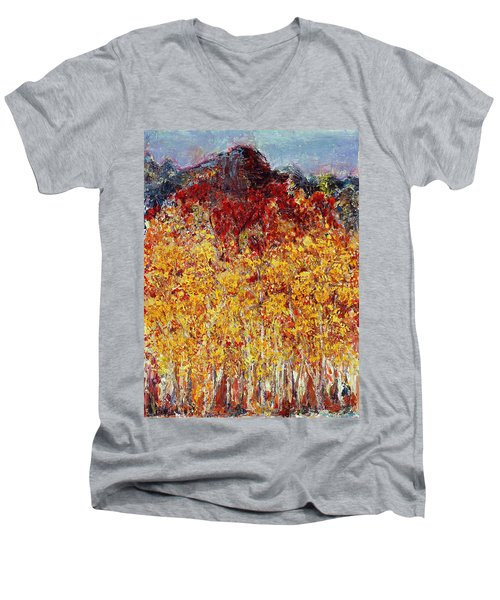 Autumn In The Pioneer Valley Men's V-Neck T-Shirt