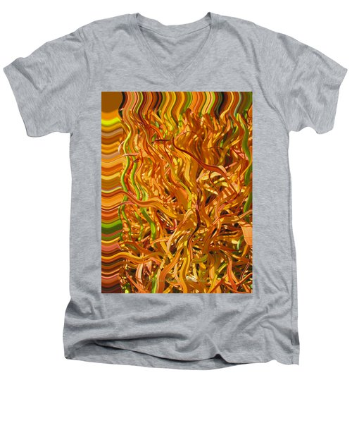 Autumn Leaves 5 - Abstract Photography - Manipulate Images Men's V-Neck T-Shirt