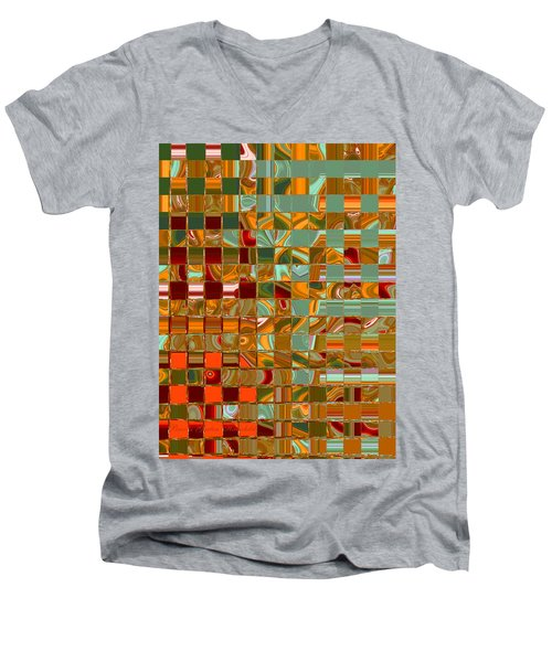 Autumn Leaves 8 - Abstract Images - Manipulated Photograph Men's V-Neck T-Shirt