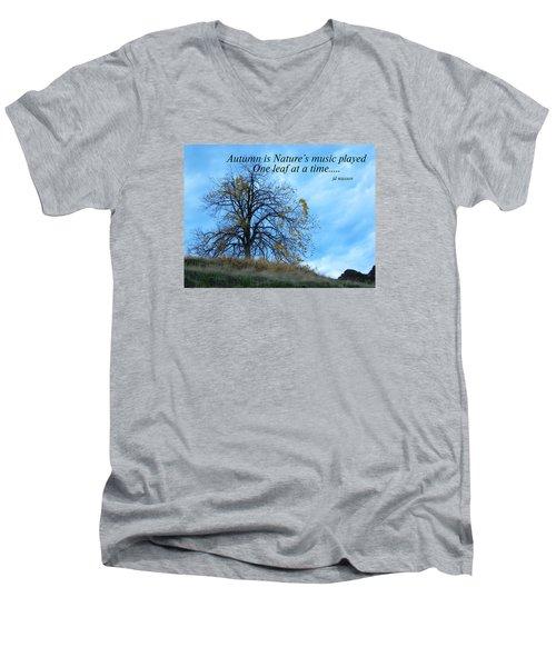 Autumn Music Men's V-Neck T-Shirt