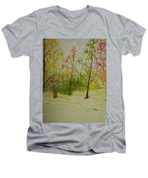 Autumn Scenery Men's V-Neck T-Shirt
