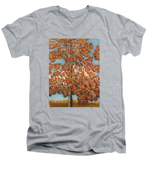 Autumn Tree Men's V-Neck T-Shirt