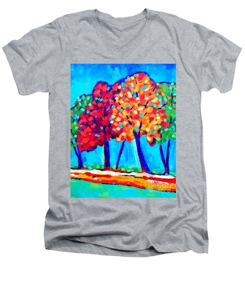 Autumn Trees Men's V-Neck T-Shirt