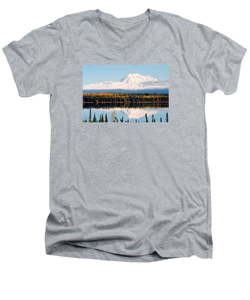 Autumn View Of Mt. Drum - Alaska Men's V-Neck T-Shirt by Juergen Weiss