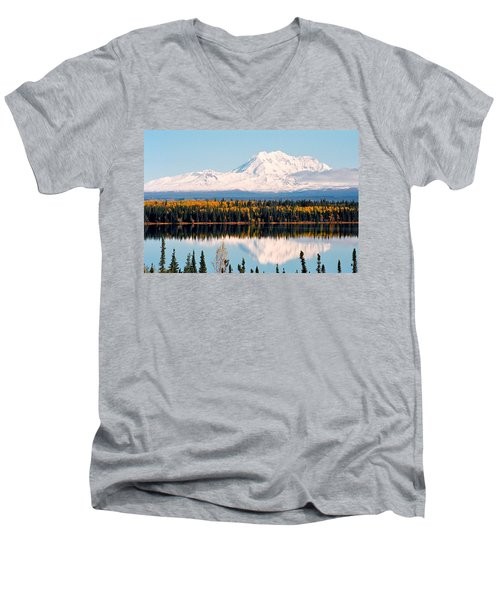 Autumn View Of Mt. Drum - Alaska Men's V-Neck T-Shirt