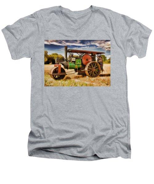 Aveling Porter Road Roller Men's V-Neck T-Shirt
