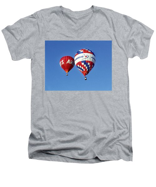 Avis Balloon Men's V-Neck T-Shirt by John Swartz
