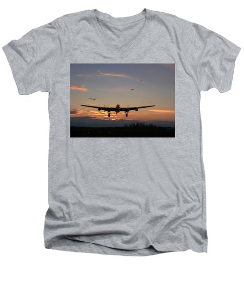 Avro Lancaster - Dawn Return Men's V-Neck T-Shirt