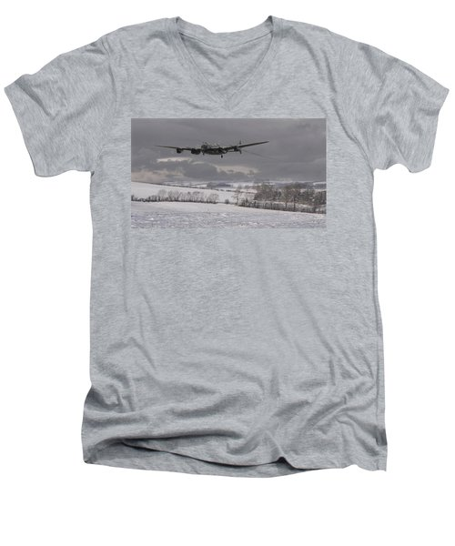 Avro Lancaster - Limping Home Men's V-Neck T-Shirt