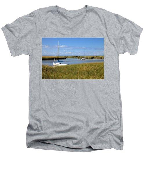Men's V-Neck T-Shirt featuring the photograph Awaiting Adventure by Gordon Elwell